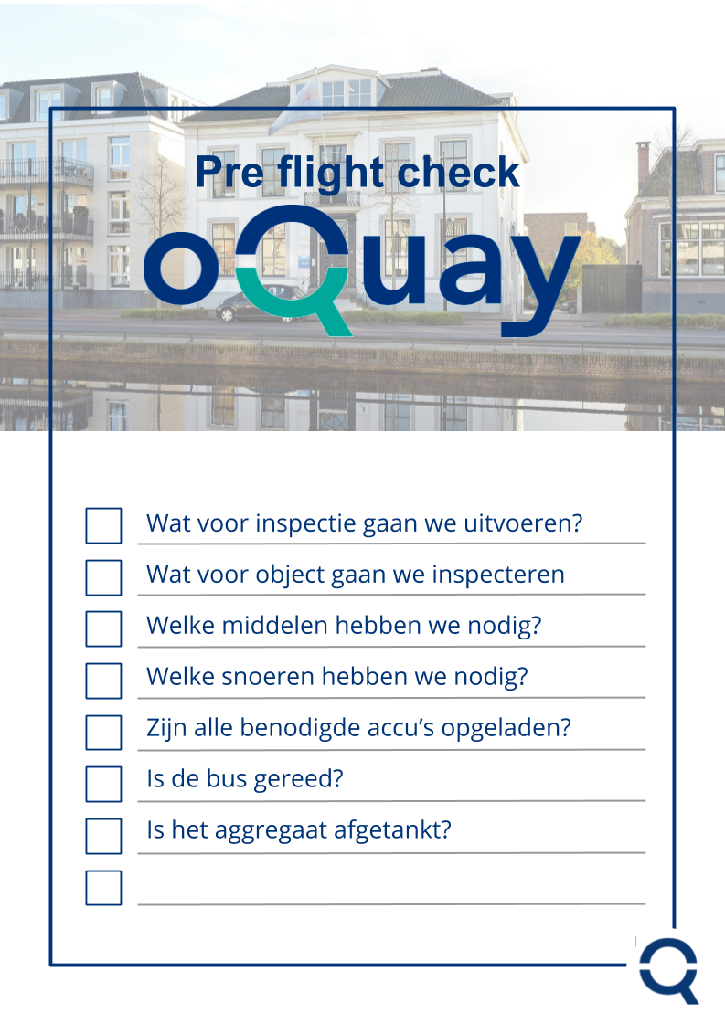 Pre flight check - inspecties oQuay